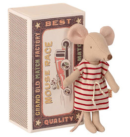 Maileg Mouse Big Sister in Striped  Dress