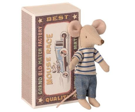 Maileg Mouse Big Brother in Striped  Shirt