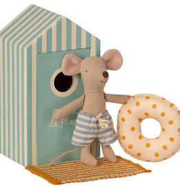 Maileg Mouse Little Brother Beach Cabin de Plage