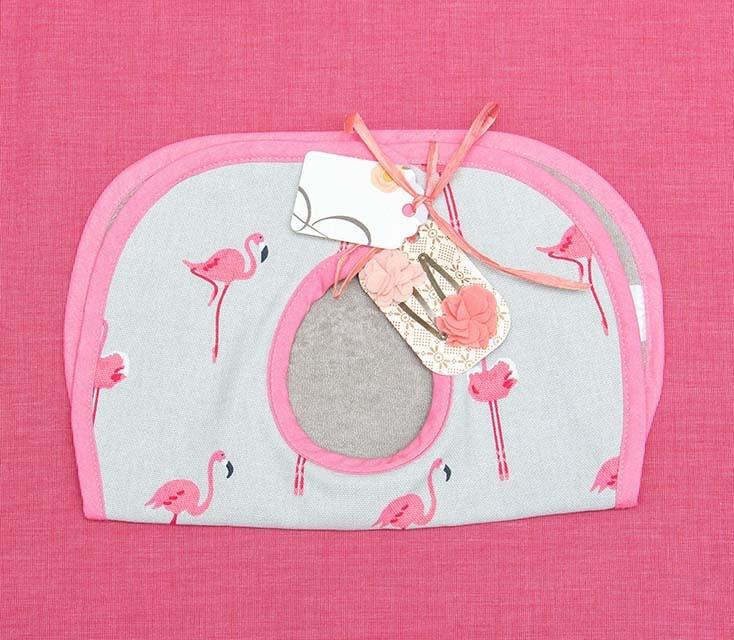Kreatelier Bundle Bib Flamingos & Hair Clips