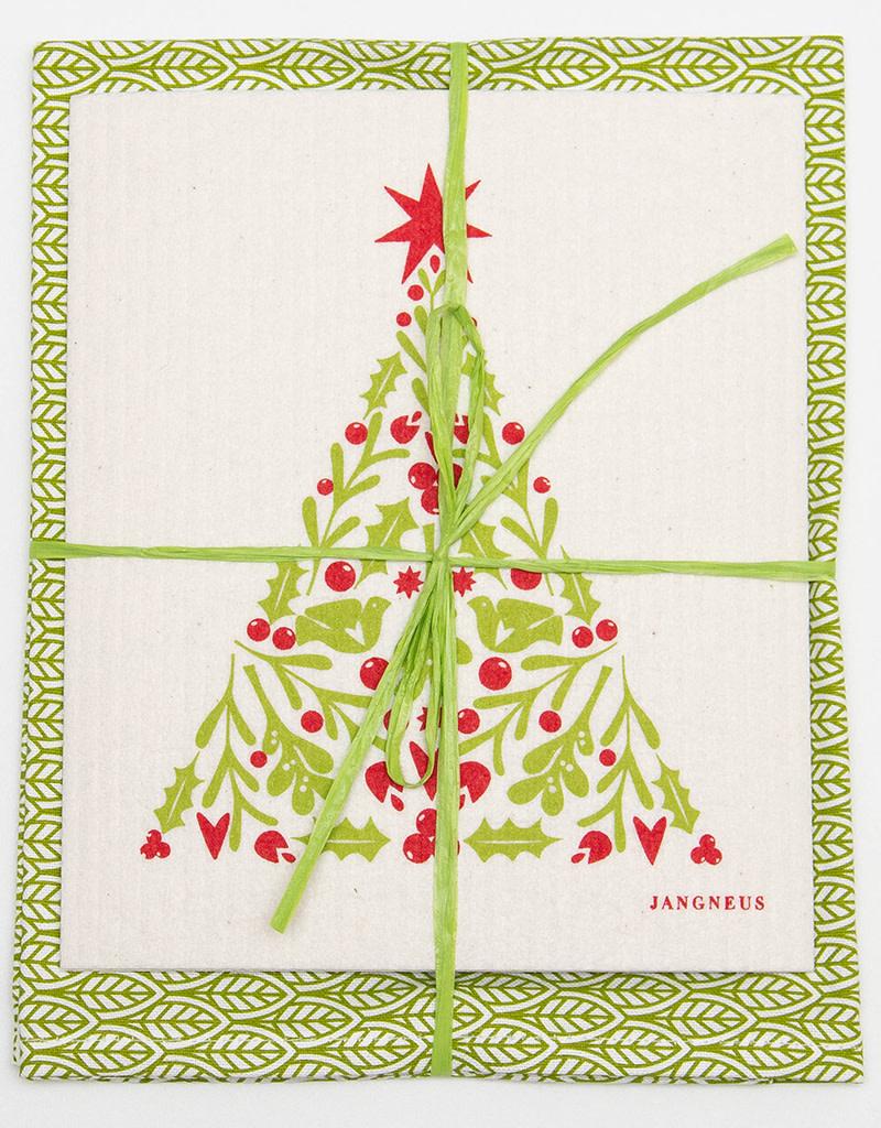 Esthetic Living Tea Towel and Swedish Dishcloth Xmas Tree