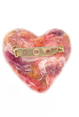 Karen Kemp Felt Heart Pin Multi