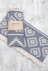 Pokoloko Turkish Towel Geometric Cowboy Denim