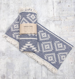 Pokoloko Turkish Towel Geometric Cowboy Denim
