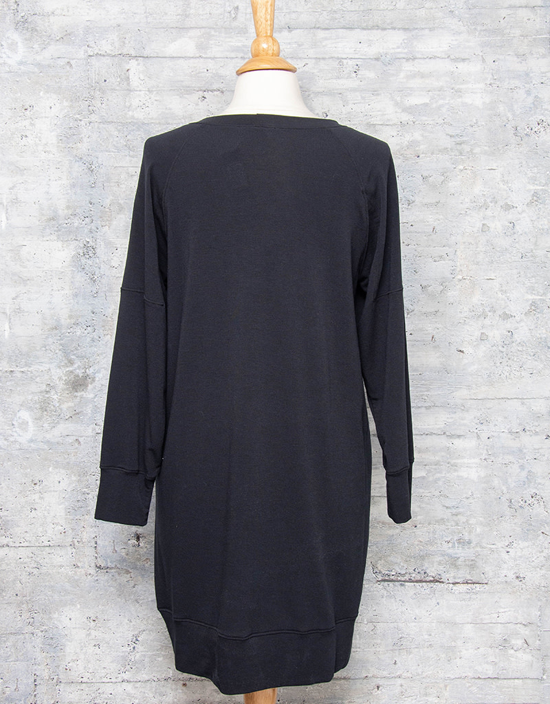 Nally & Millie French Terry Dress Black
