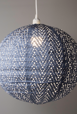 Allsop Home and Garden Pendant Stella Nova Chevron Blue 18""