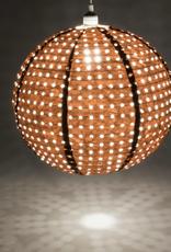 "Allsop Home and Garden Pendant Stella Nova Copper Swiss Dot 18"""