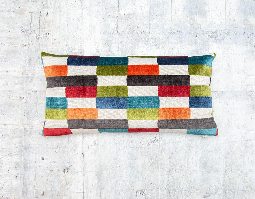 Kreatelier Colorblock Pillow Multi 10 x 20in