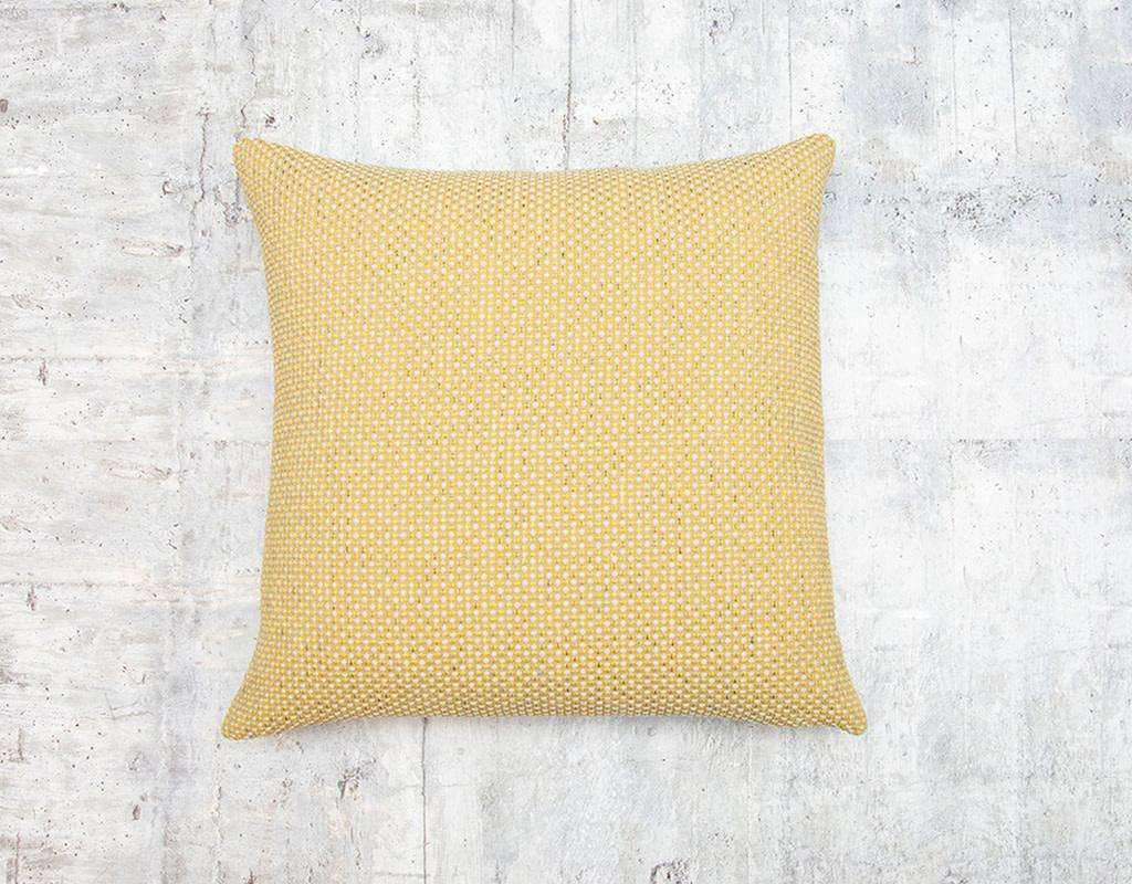 Kreatelier Woven Pillow in Chartreuse 17 x 17in