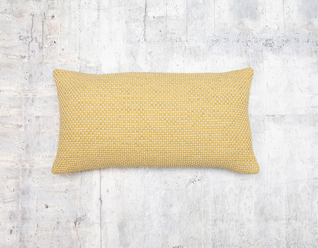 Kreatelier Woven Pillow in Chartreuse 10 x 18in