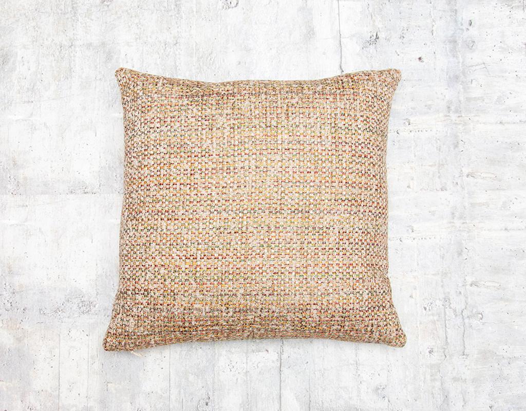 Kreatelier Tweed Pillow in Tan Multi 17 x 17in