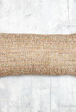Kreatelier Tweed Pillow in Tan Multi 10 x 20in