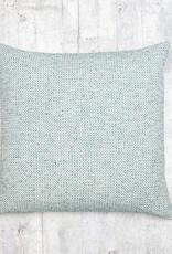Kreatelier Woven Pillow in Blues 17 x 17in