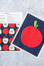 Rockflowerpaper Blu Cloth Set 2 Apples
