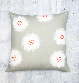 Kreatelier Seed Puff Grey Pillow 18 x 18in