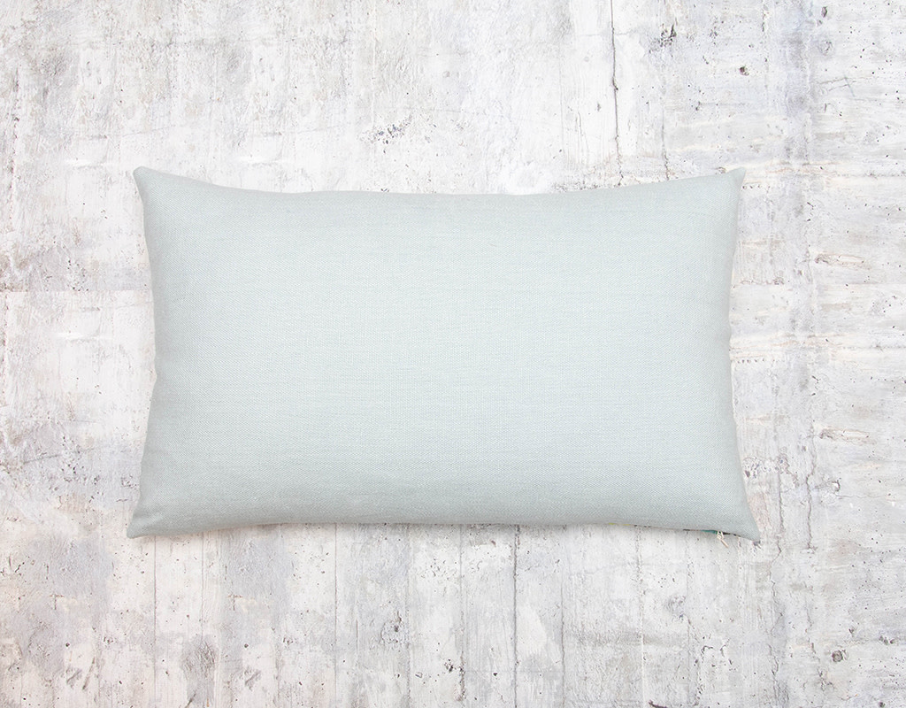 Kreatelier Summer Stripe Pillow in Blues and Yellows 14 x 22in