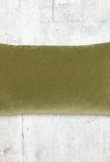 Kreatelier Velvet Pillow Olive Green 10 x 18in