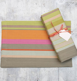 Dash & Albert Stone Soup Stripe Napkin Set of 4