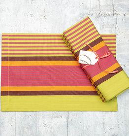 Dash & Albert Tahiti Stripe Napkin Set of 4