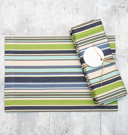 Dash & Albert Pond Stripe Napkin Set of 4