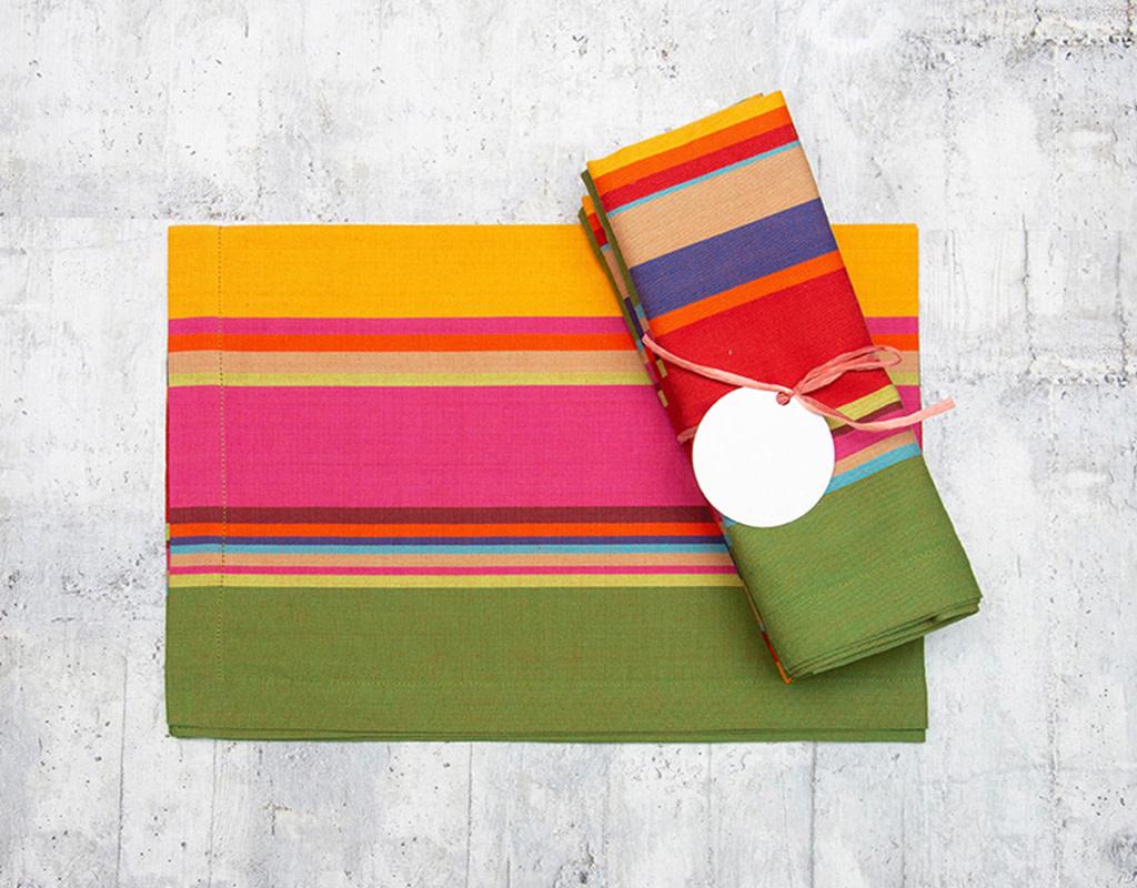Dash & Albert Paxton Stripe Napkin Set of 4