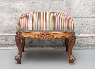 footstool upholstery