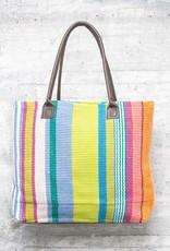 Dash & Albert Mellie Stripe Woven Cotton Tote Bag