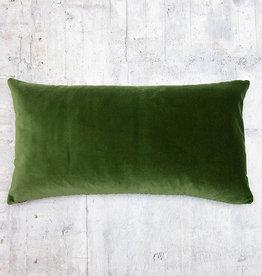 Kreatelier Velvet Pillow Forrest Green 13 x 26in