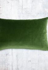 Kreatelier Velvet Pillow Forrest Green 14 x 20in
