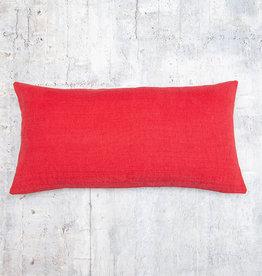 Kreatelier Linara Pillow in Red 10 x 20in