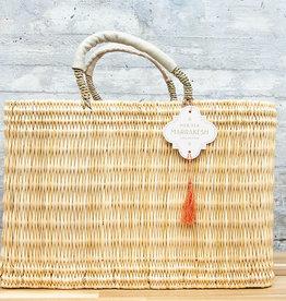 Mer-Sea & Co Medina Market Basket with Natural Leather M