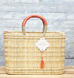 Mer-Sea & Co Medina Market Basket with Spice Leather S