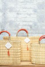 Mer-Sea & Co Medina Market Basket with Spice Leather M
