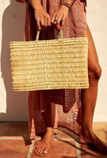 Mer-Sea & Co Medina Market Basket with Spice Leather L