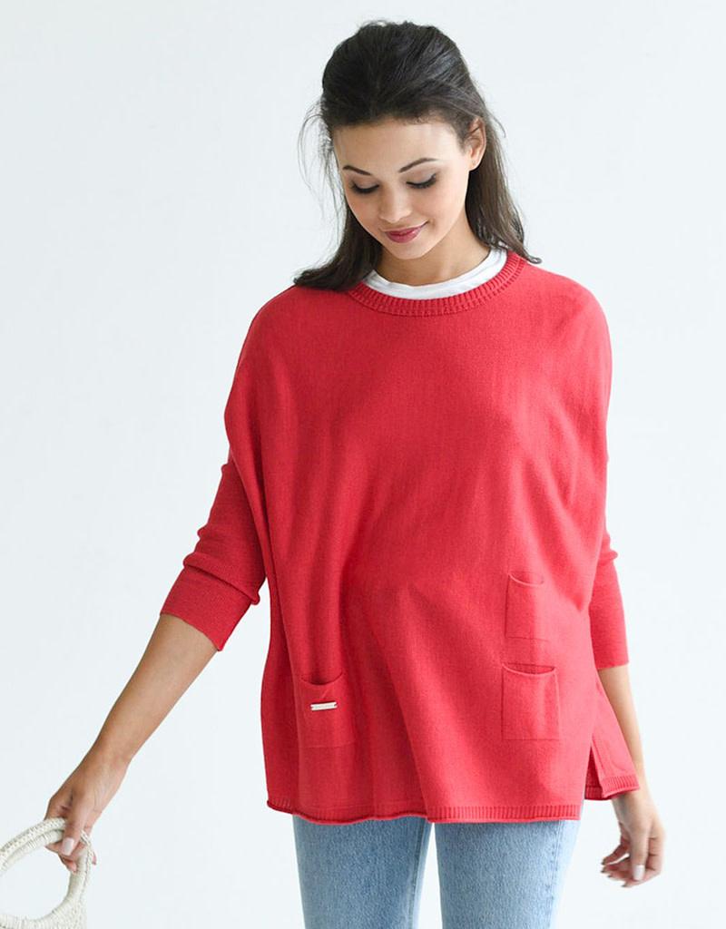 Mer-Sea & Co Catalina Crewneck Sweater Poppy