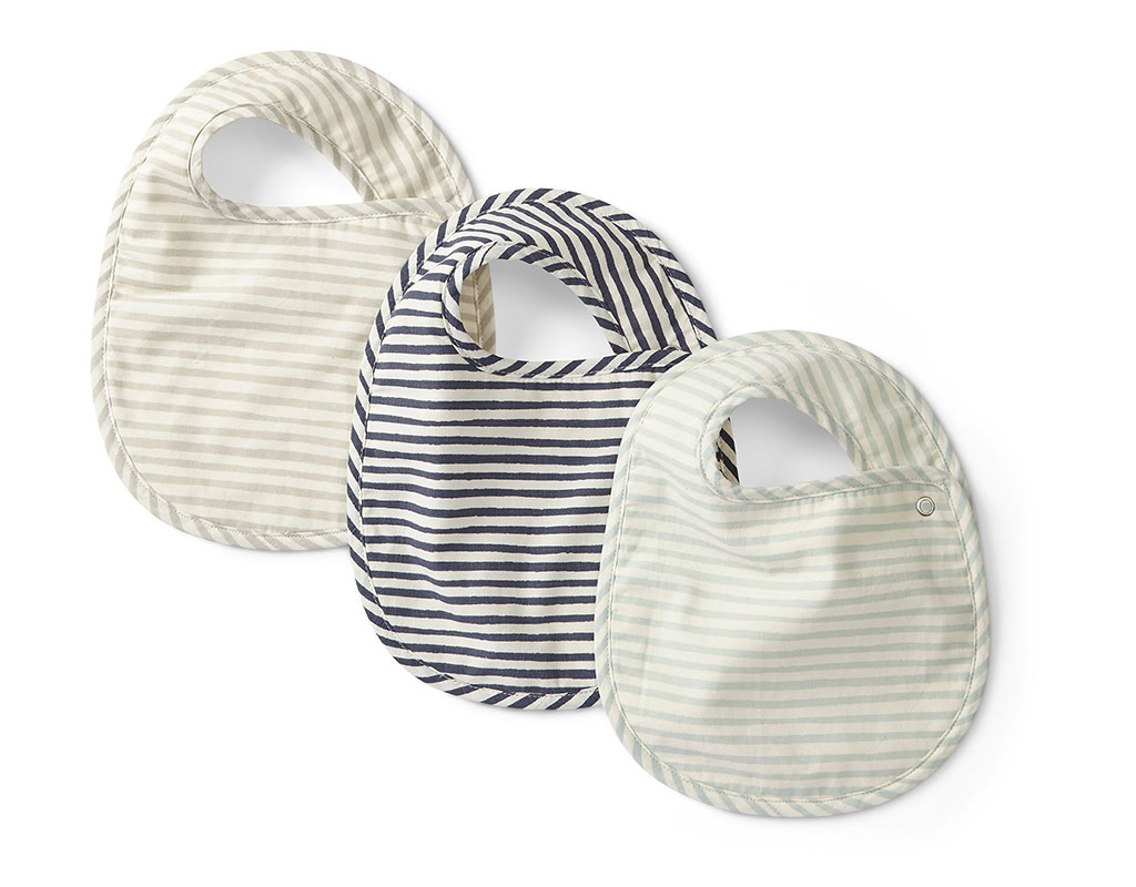 Pehr Designs Bib Set of 3 Stripes Away Sea