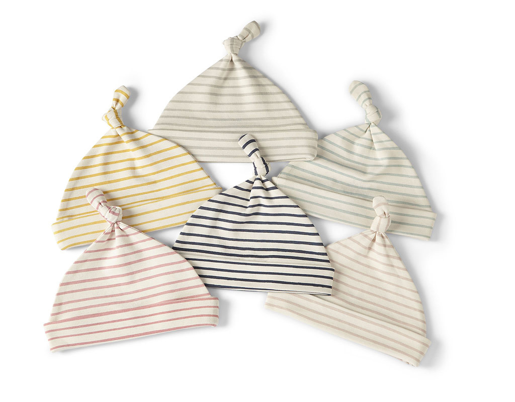 Pehr Designs Knot Hat Stripes Away Sea 0-6M
