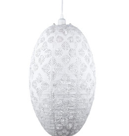 Allsop Home and Garden Pendant Stella Nova Geo Palm Pod White