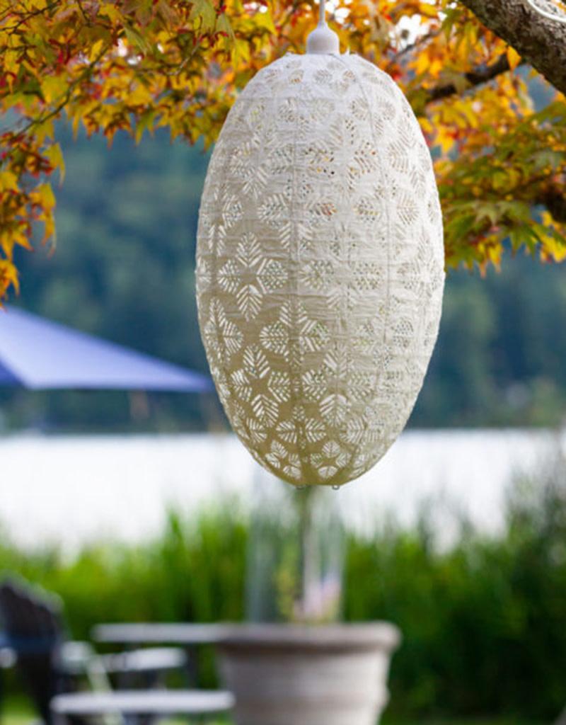Allsop Home and Garden Pendant Stella Nova Geo Palm Pod White