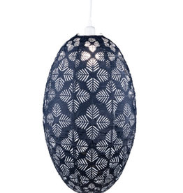 Allsop Home and Garden Pendant Stella Nova Geo Palm Pod Midnight Blue