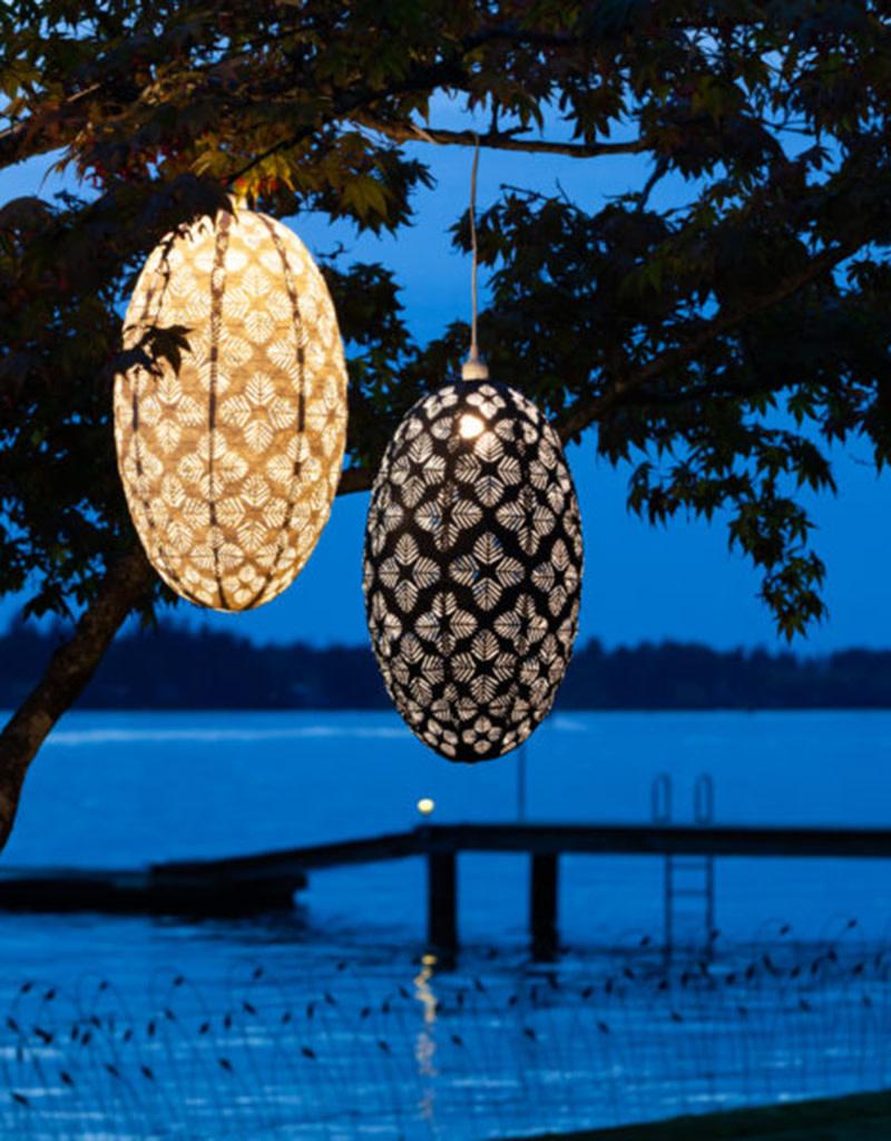 Allsop Home and Garden Pendant Stella Nova Geo Palm Pod Midnight Blue