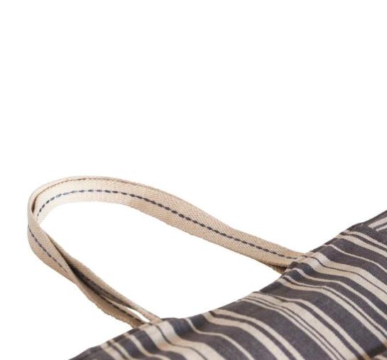 Rockflowerpaper Tote Carryall Stripe Woven Grey