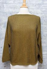 Matthildur Striped Top Mustard and Black
