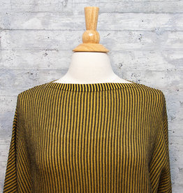 Matthildur Striped Top Mustard and Black