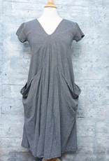 Matthildur Pique Dress Black and Ivory