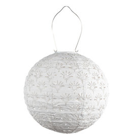 Allsop Home and Garden Solar Lantern Deco Globe White 12""