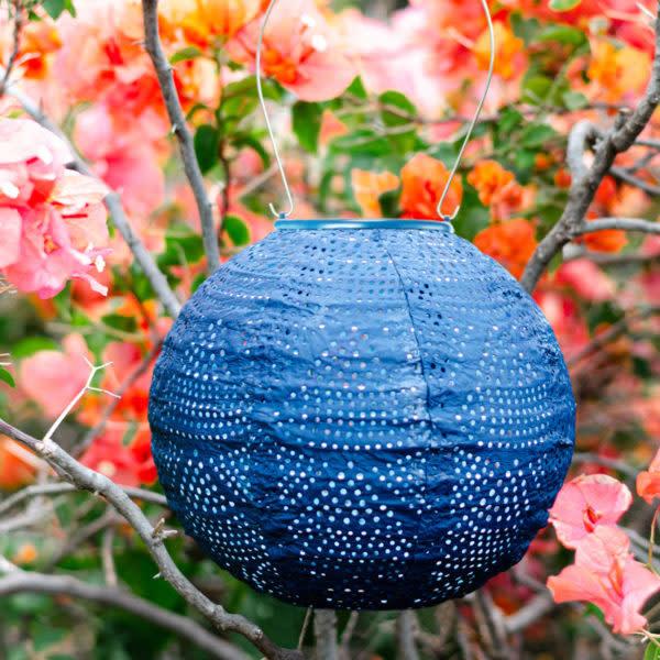 """Allsop Home and Garden Stella Globe Wave Punch Ultramarine 8"""""""