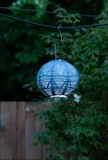 Allsop Home and Garden Stella Globe Wave Punch Metallic Blue