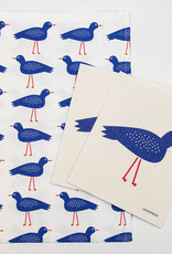 Esthetic Living Tea Towel and Swedish Dishcloth Blue Bird