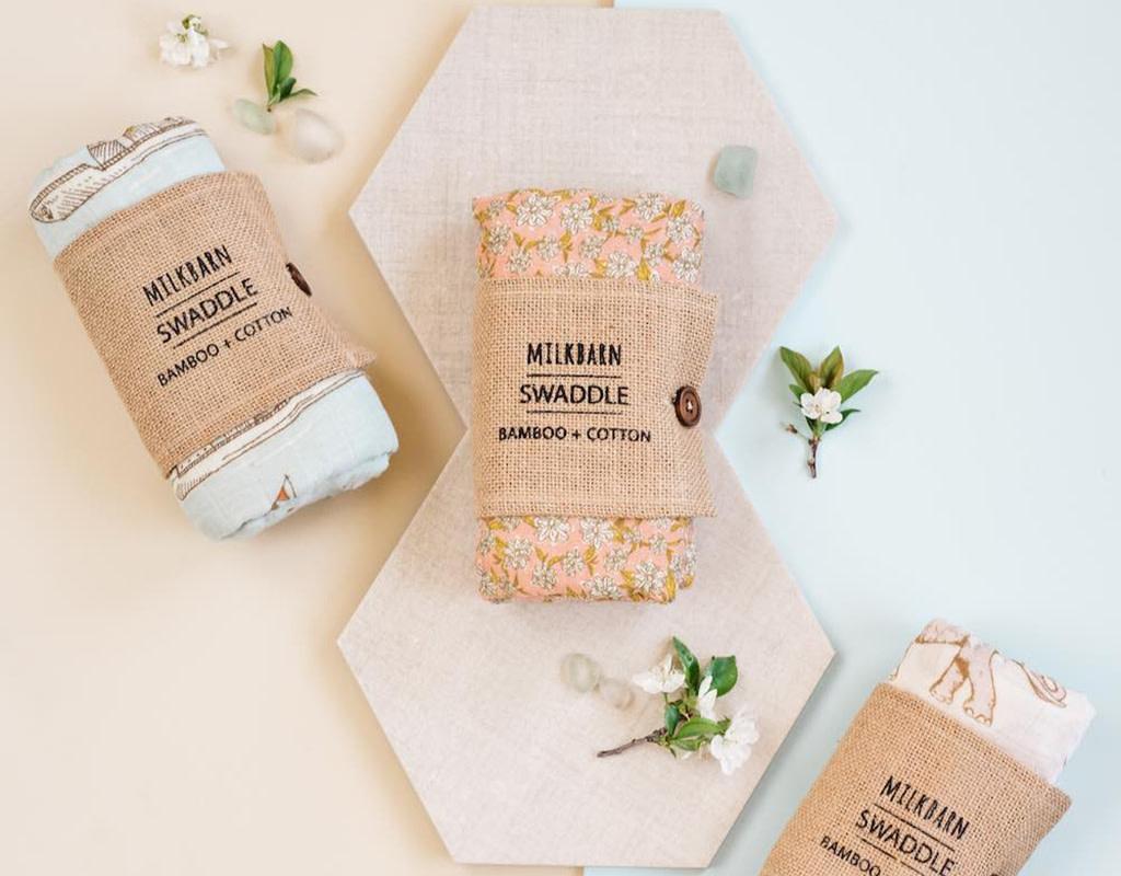 Milkbarn Bamboo Swaddle Blanket Bumblebee